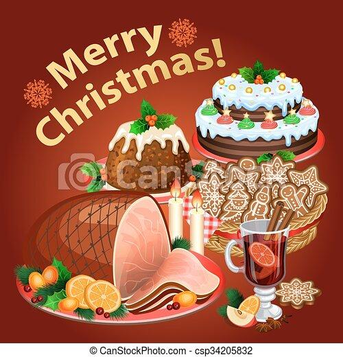 Christmas Dinner Traditional Christmas Food And Desserts Christmas