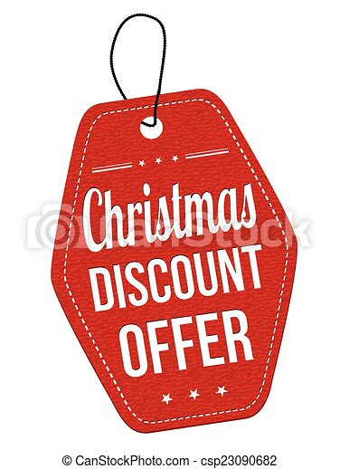 christmas discount offer label or price tag christmas discount