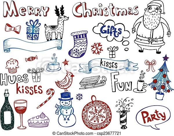 Christmas doodles - csp23677721
