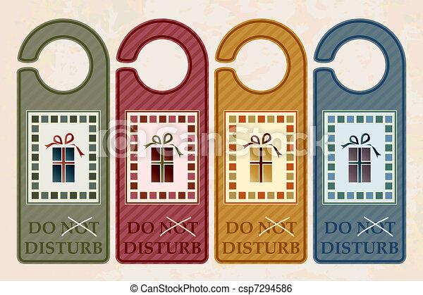 Christmas Door Hangers Vintage Style Do Not Disturb