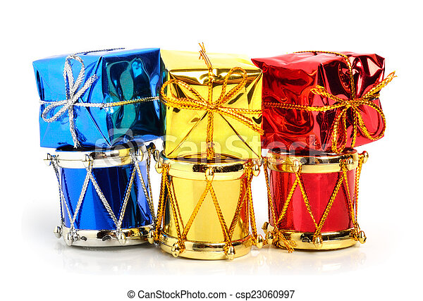 Christmas Drum.Christmas Drums Baubles And Toys