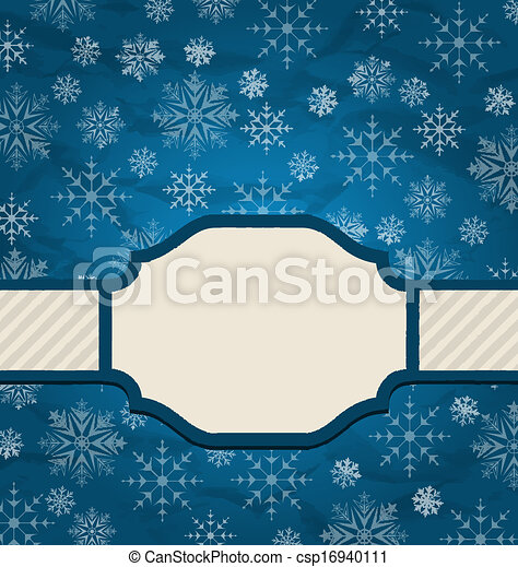 Christmas elegant card with snowflakes - csp16940111