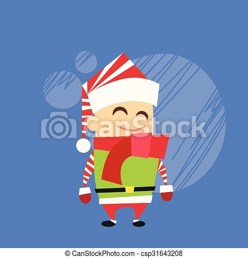 Christmas Elf Cartoon Character Santa Helper - csp31643208