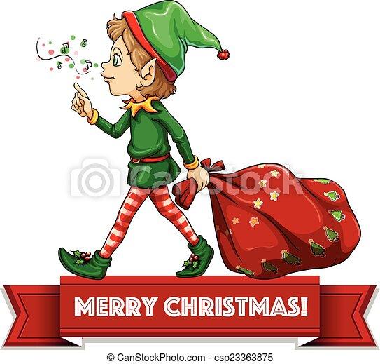 christmas elf csp23363875 - Merry Christmas Elf