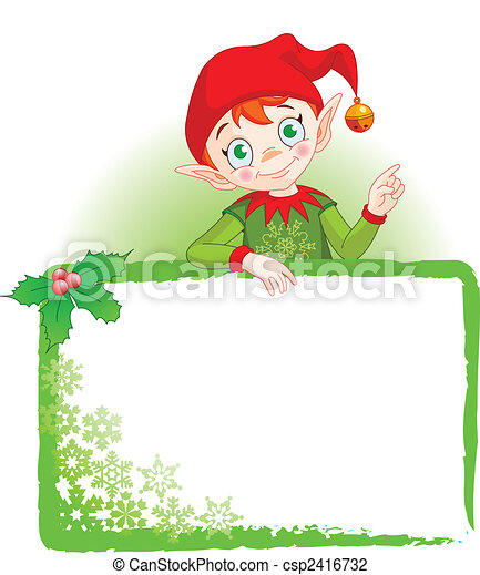 Christmas Elf Invite & Place Card - csp2416732