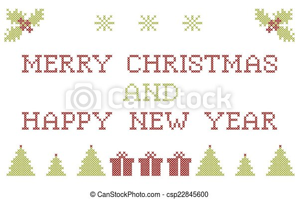 Christmas embroidering - csp22845600
