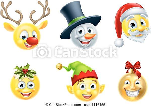 Christmas Emojis.Christmas Emoji Set