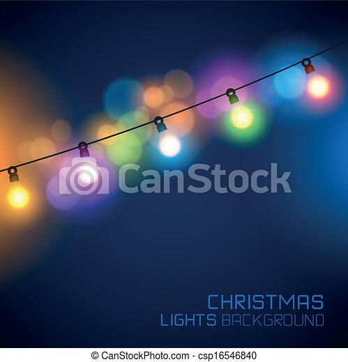 Christmas Lights Vector Free.Christmas Fairy Lights