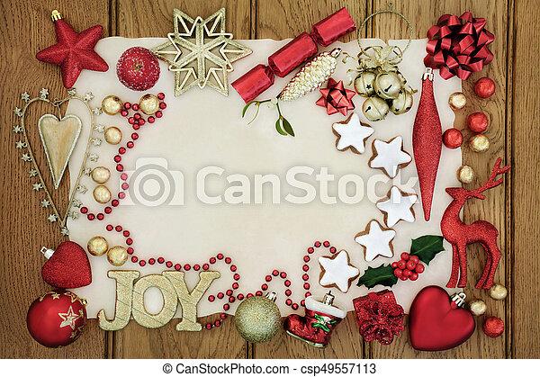 christmas festive background border csp49557113