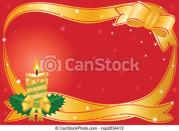 Christmas festive candle - csp2834412