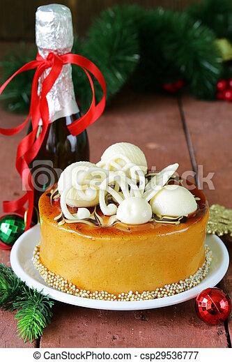 Christmas festive dessert cake - csp29536777
