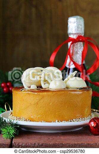 Christmas festive dessert cake - csp29536780