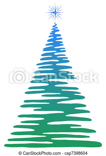 Christmas Fir Tree Pictogram Holiday Symbol Openwork Isolated