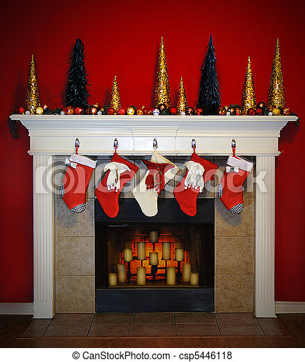 Christmas Fire Place Images.Christmas Fireplace
