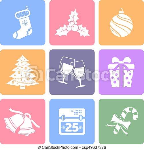 Christmas flat icons - csp49637376