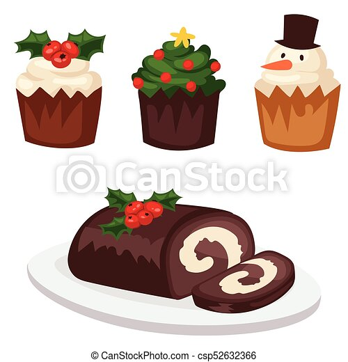 Christmas Food And Desserts Holiday Decoration Xmas Sweet