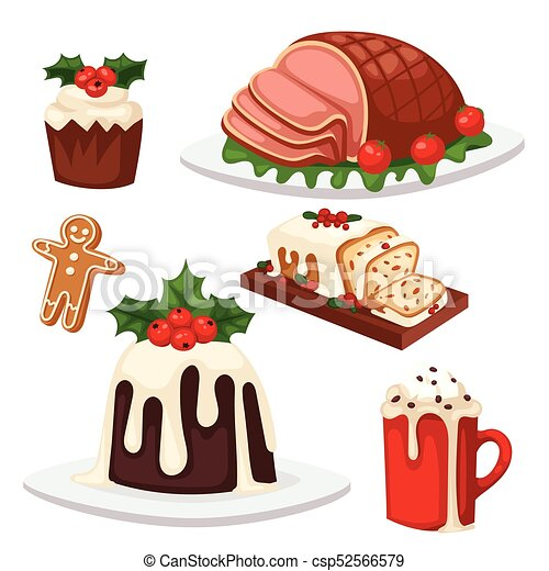 Christmas food and desserts holiday decoration xmas sweet ...