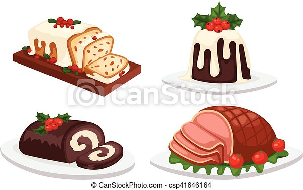 Christmas Food Vector Set