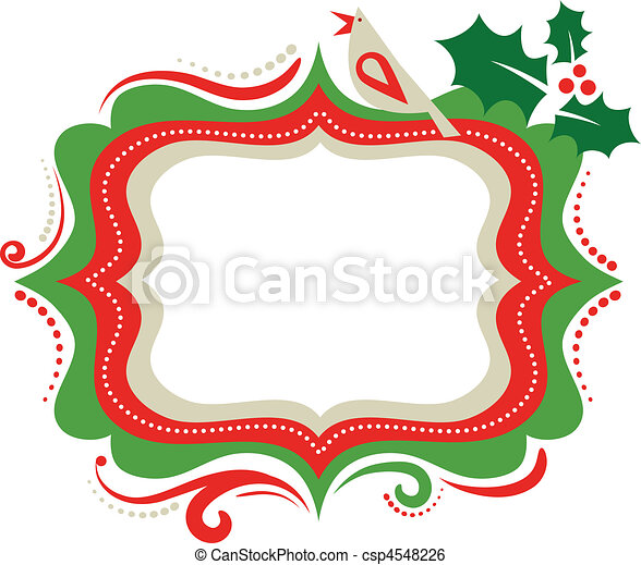 christmas frame 3 christmas frame with a bird rh canstockphoto com christmas frame clipart free download christmas border clipart