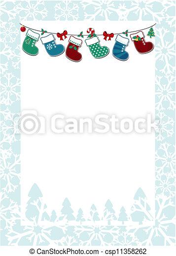 christmas frame background - csp11358262