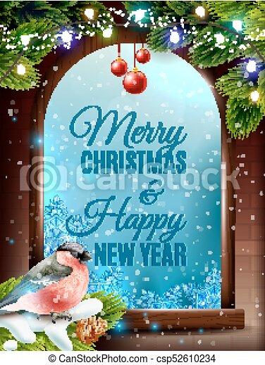 Christmas Frame Background - csp52610234