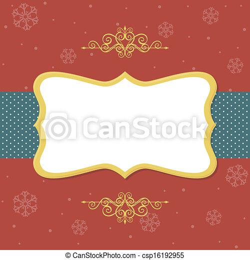 christmas frame - csp16192955