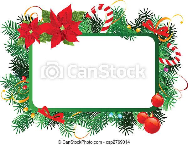 Christmas frame - csp2769014