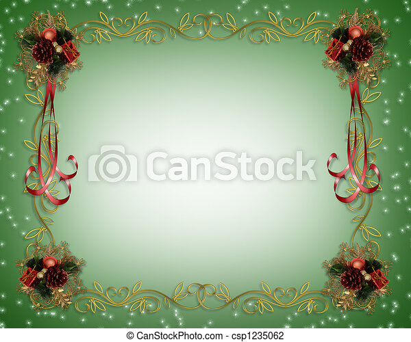 christmas frame fancy border csp1235062