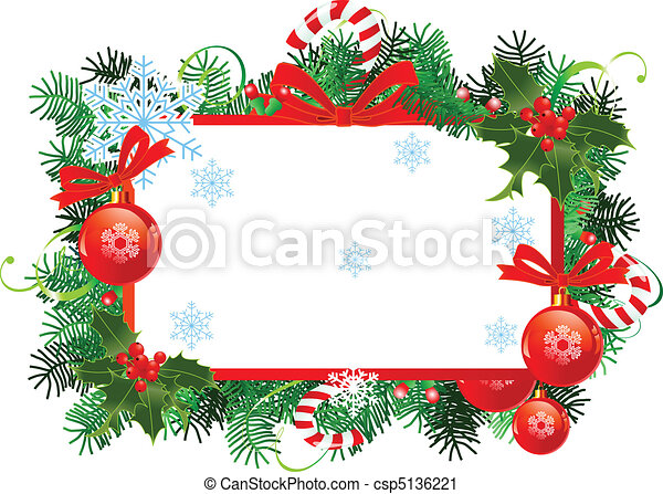 Christmas frame - csp5136221