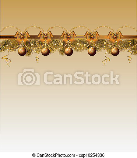 christmas frame with balls - csp10254336