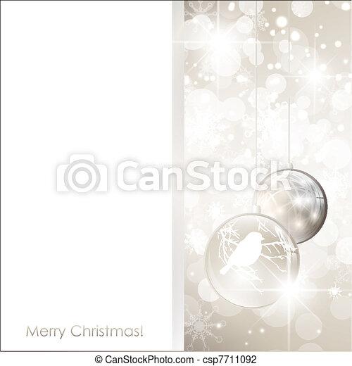 Christmas frame with balls - csp7711092