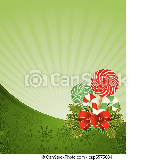 Christmas frame with candy cane - csp5575684