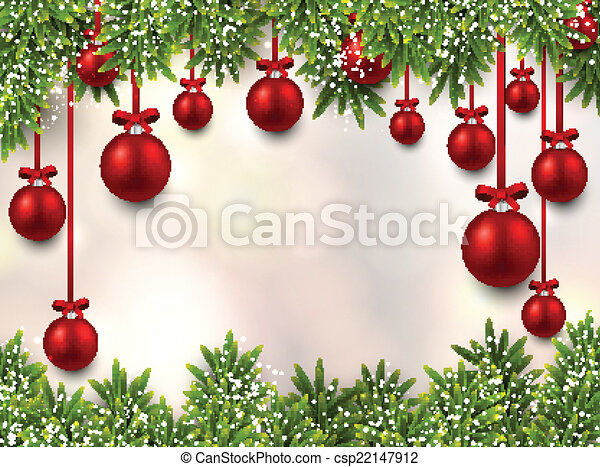 Christmas frame with fir branches. - csp22147912
