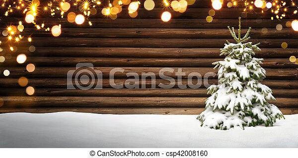 Christmas lights on houses with snow u happy holidays