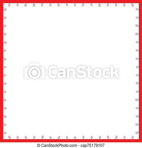 Christmas Frame with Light Bulbs - csp75179107