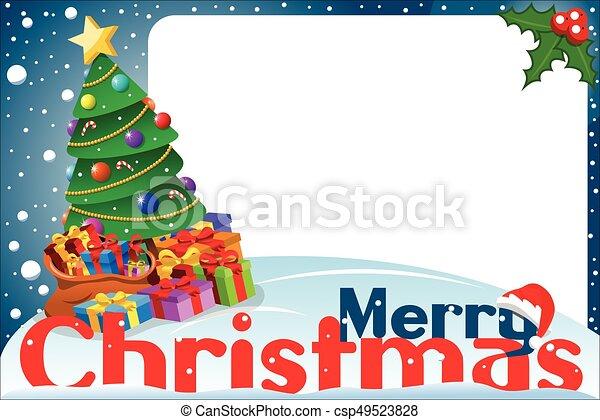 Christmas frame xmas tree. Christmas frame with xmas tree.