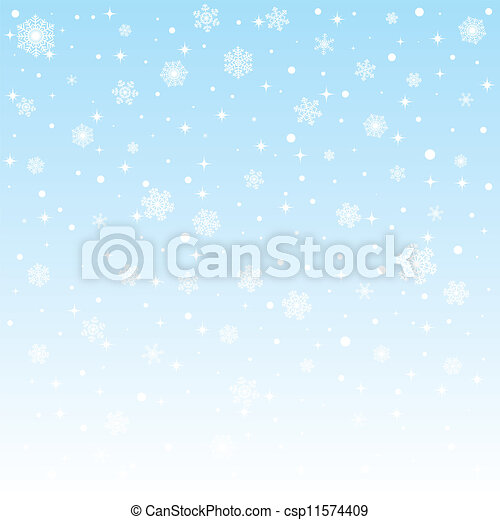 christmas frozen background with snowflakes - csp11574409