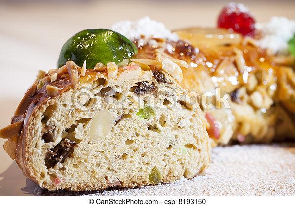 Christmas fruit cake - csp18193150