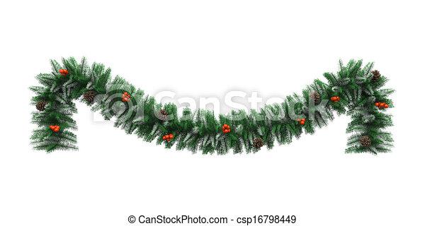 christmas garland decoration csp16798449