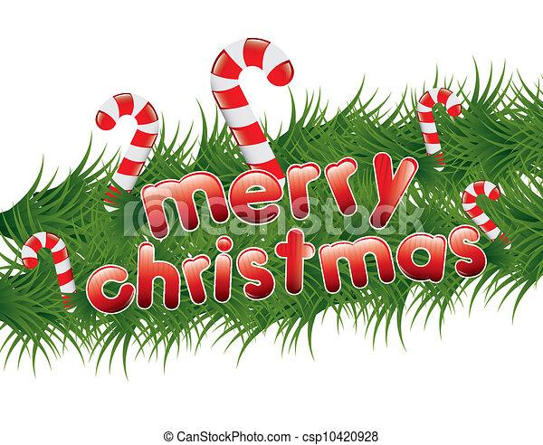 christmas garland csp10420928