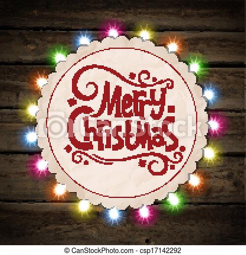 Christmas garland of light - csp17142292