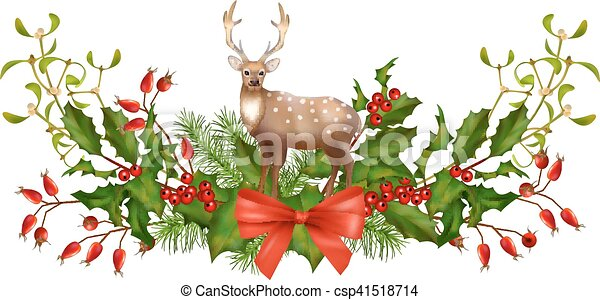 Christmas Garland Vector - csp41518714