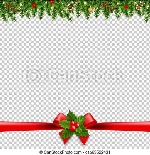 Christmas Garlands.Christmas Garlands Transparent Background