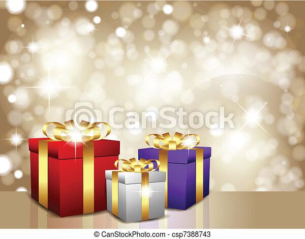 Christmas gift background - csp7388743