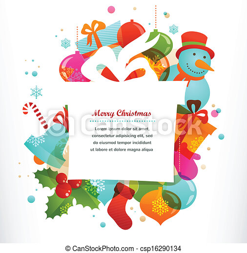 Christmas gift background with xmas elements - csp16290134