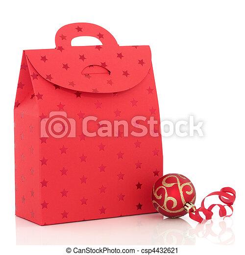 Christmas Gift Bag - csp4432621