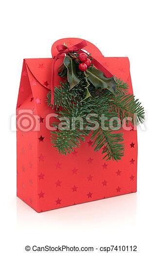 Christmas Gift Bag - csp7410112