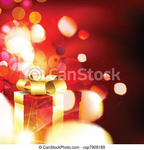 christmas gift box - csp7909189