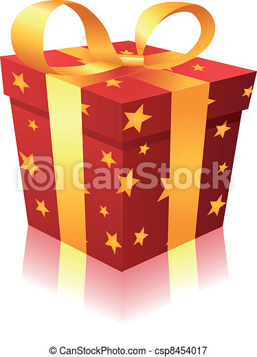 Christmas gift box illustration of a cartoon gift box for christmas gift box csp8454017 negle Gallery