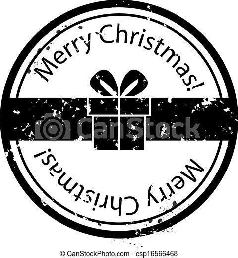 Christmas Gift Box Stamp